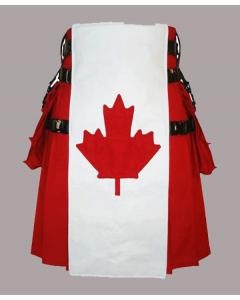 Canadian flag utility kilt