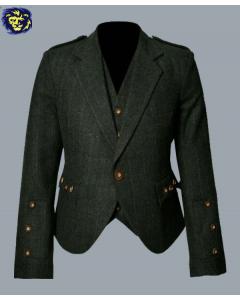 Green Argyle Jacket And Vest